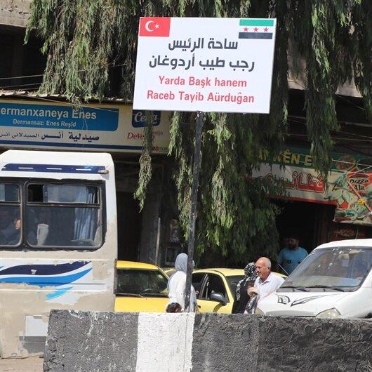 Afrin'de bulvara Başkan Erdoğan'ın ismi verildi