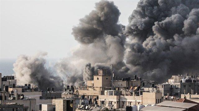 İşgalci İsrail'in savaş uçağı, Gazze'deki merkeze en az 10 füzeyle saldırı düzenlemişti.