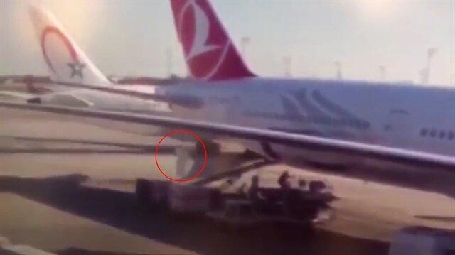 Atatürk Havalimanındaki uçak kazası kamerada