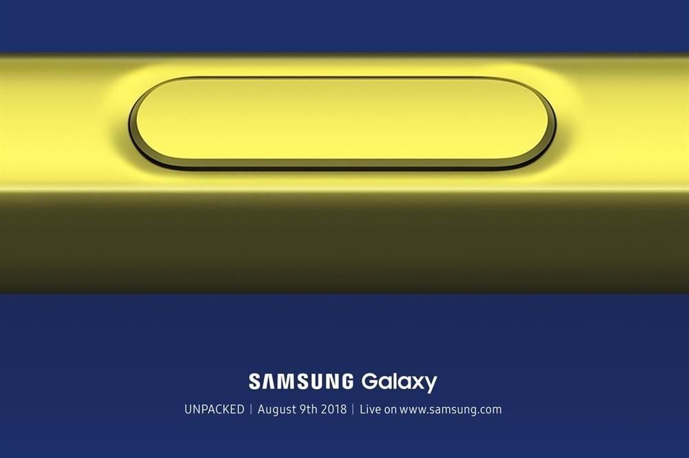 Samsung Galaxy Note 9 için tasarlanan tanıtım davetiyesi.