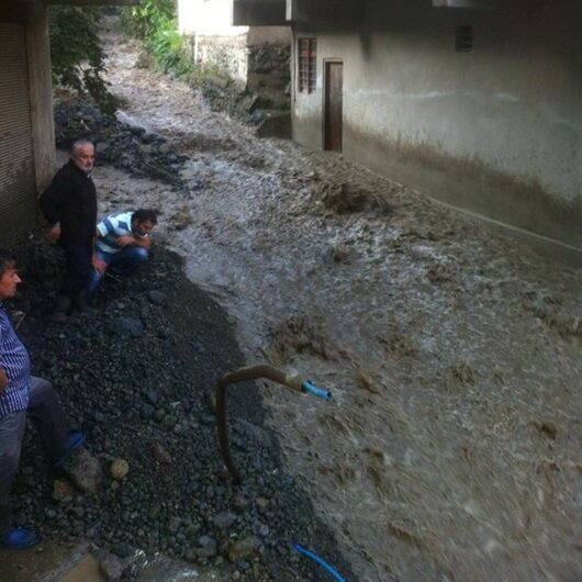 Giresun'da aşırı yağış için uyarı anonsu yapılıyor