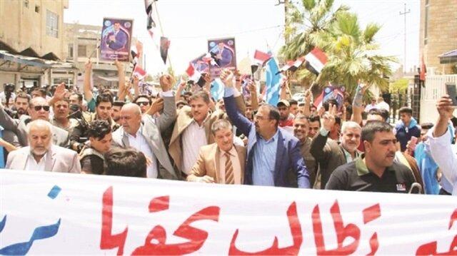 Arşiv: Türkmenler seçimlerde hile olduğunu iddia ederek protesto gösterileri düzenlemişti.