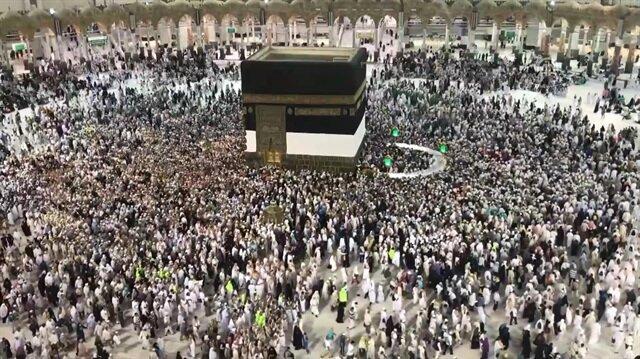 Muslim pilgrims in Mecca for Hajj