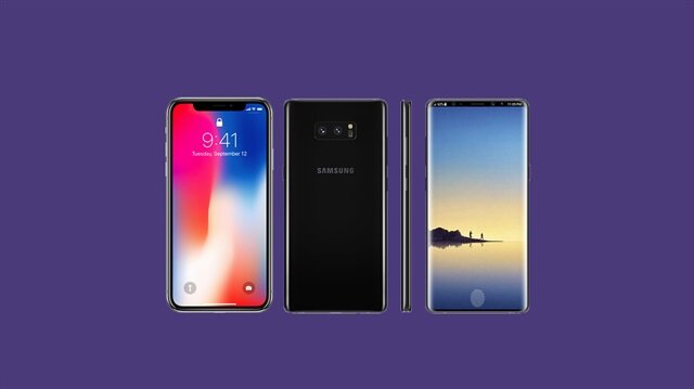 Samsung Galaxy Note 9 ve iPhone X