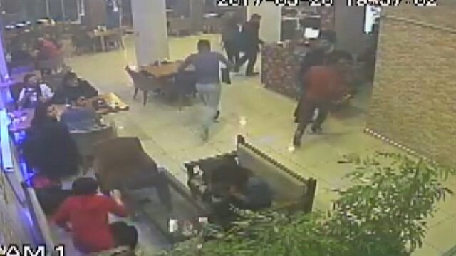 Dört kişinin öldüğü çatışma kamerada