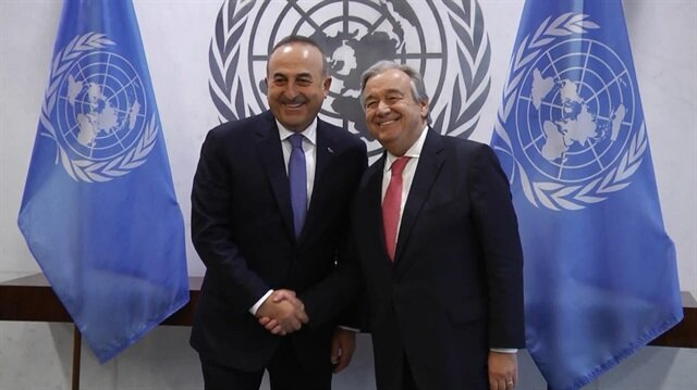 Dışişleri Bakanı Mevlüt Çavuşoğlu ve Birleşmiş Milletler Genel Sekreteri Antonio Guterres