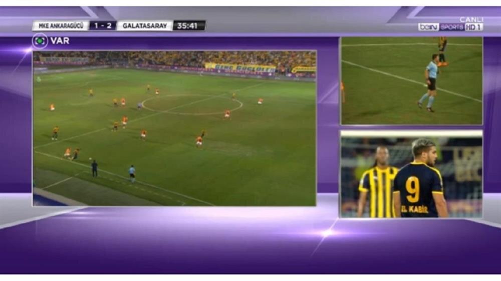 Ankaragücü'nün 36. dakikada attığı gol ofsayt gerekçesiyle iptal edildi