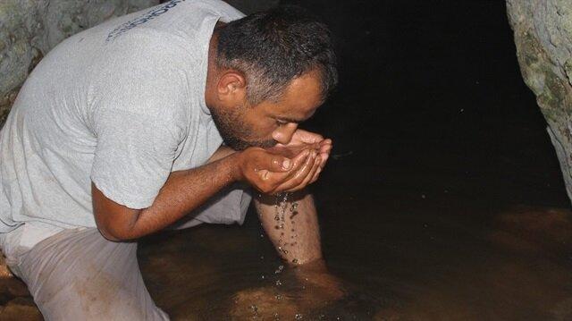 Kuruyan mağaradan 30 yıl sonra şifalı su çıktı