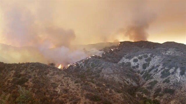 The Holy Fire spreads in Lake Elsinore, California, the U.S.