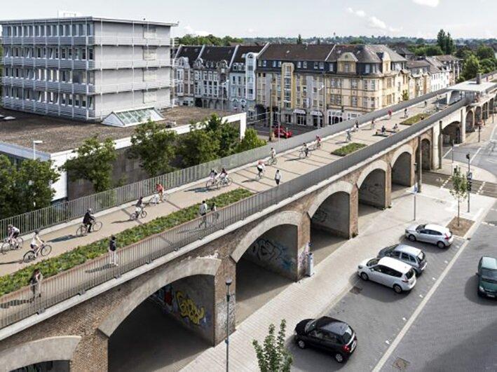 Hamm şehrinden Duisburg'a kadar 101 kilometrelik bisiklet yolu yapılıyor. Bisiklet yolu üzerinde konaklama tesislerinin de olacağı belirtiliyor.