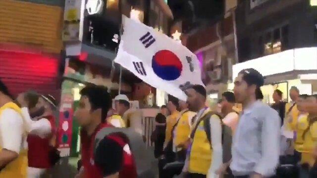 Koreli hacı adayları caddeleri telbiyelerle inletti