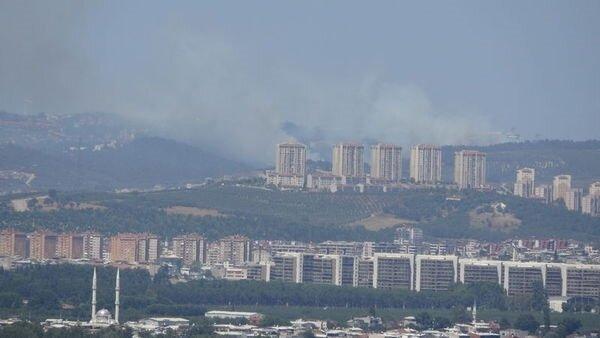 Bursa'da orman yangını kent merkezinden de görülüyor.