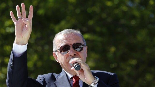 Başkan Erdoğan, Ünye'de vatandaşlara hitap etti.