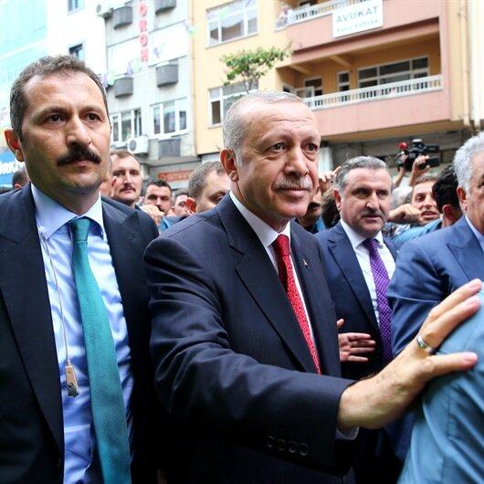 Başkan Erdoğan Rize'de vatandaşlarla sohbet etti