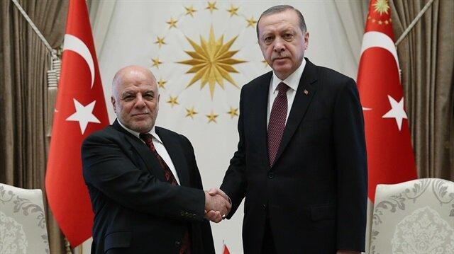 Irak Başbakanı Haydar el-İbadi ile Başkan Recep Tayyip Erdoğan