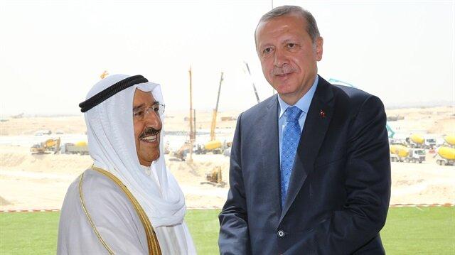 Başkan Erdoğan, Kuveyt Emiri Şeyh Sabah El Cabir El Sabah ile telefonda görüştü.