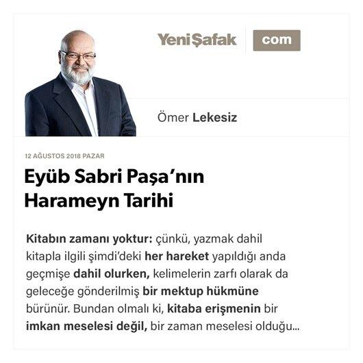Eyüb Sabri Paşa'nın Harameyn Tarihi