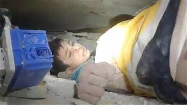Enkazdan kurtarılan İdlibli çocuk: Burası evim miydi? Unuttum