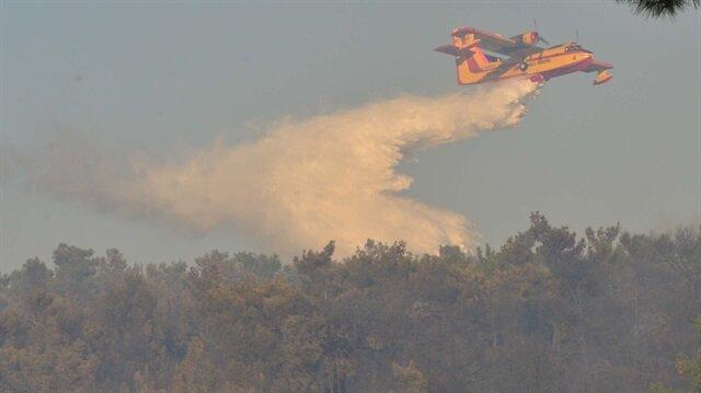Yangın, ekiplerin saatler süren çalışmalarının ardından kontrol altına alındı.