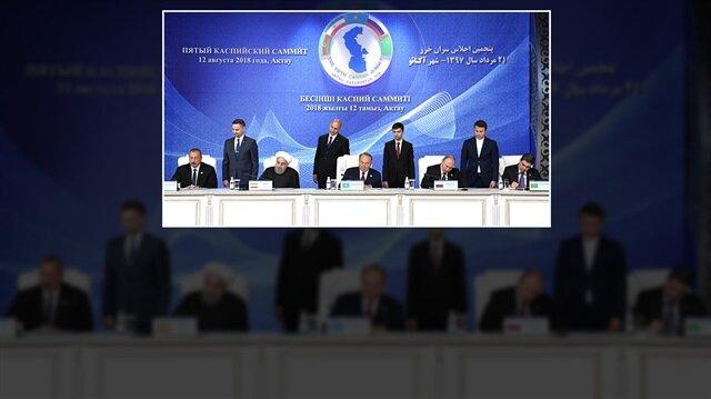Hazar Ülkeleri Devlet Başkanları Zirvesi'nde üzerinde 22 yıl çalışılan Hazar Denizi Anlaşması'nı imzaladı.