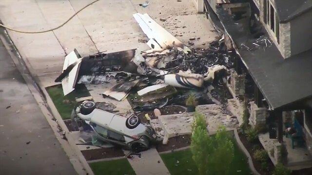 Ailesine sinirlenen ABD'li pilot evine uçakla daldı!