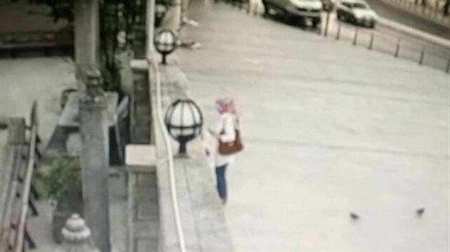 Türbede dua eden kadın ölümden kıl payı kurtuldu