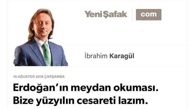 Erdoğan'ın meydan okuması. Bize yüzyılın cesareti lazım. Yeni Amerikan Yüzyılı bitti. Artık bir Türkiye Ekseni var!