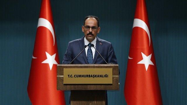 Turkish Presidential spokesman Ibrahim Kalin