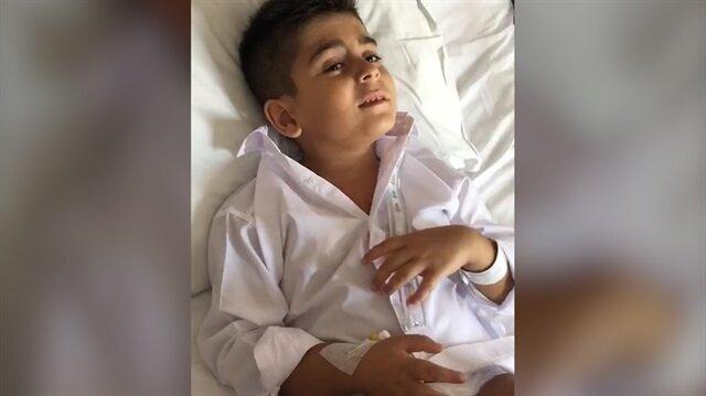 Narkozun etkisiyle 15 Temmuz marşı söyleyen çocuk