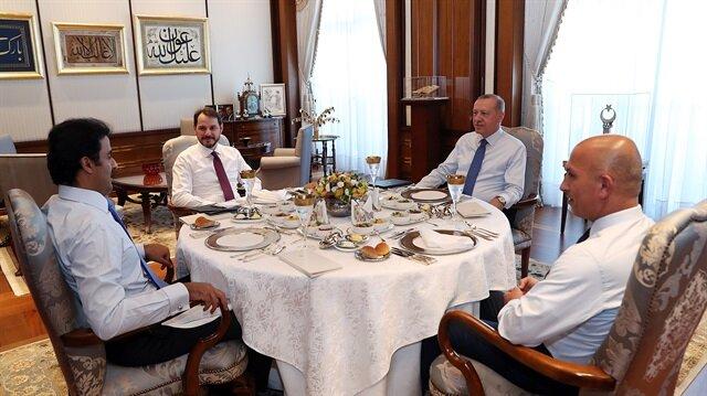 Erdoğan ile Katar Emiri'nin çalışma yemeğinde gözden kaçan ayrıntı