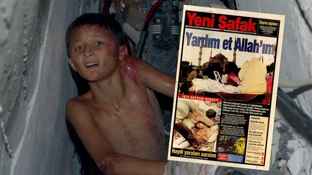 """17 Ağustos depreminin manşetlerdeki izi: """"Allah'ım yardım et"""""""