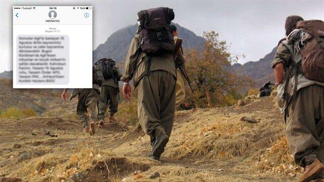 'Mersin153' adıyla telefonlara gelen PKK mesajı hakkında soruşturma başlatıldı.