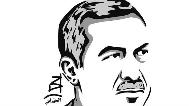 """""""من صبر ظفر"""".. فنان قطري يشيد بصمود تركيا عبر لوحة لأردوغان"""