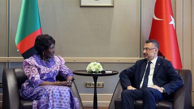 نائب أردوغان يستقبل نظيرته الزامبية في أنقرة