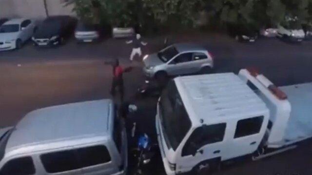 Kahraman adam geri vitesle hırsızlığı önledi