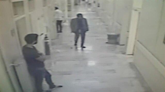 Bartın'da hastanede hırsızlık anı