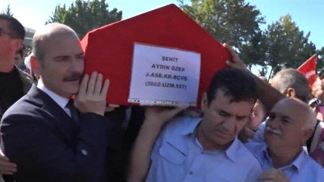 Şehitlerimizin cenazesinde gözyaşları sel olup aktı