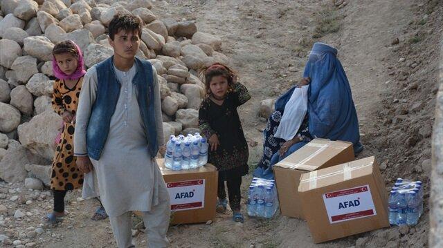 """""""آفاد"""" التركية توزع مساعدات لـ 3600 أسرة في أفغانستان"""