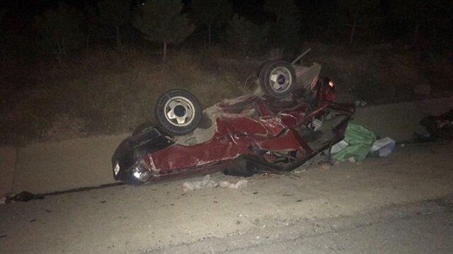 Afyon'da meydana gelen kazada 3 kişi öldü, 6 kişi yaralandı.