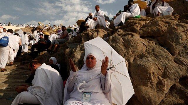 Diyanet İşleri Başkanı Erbaş Arafat'ta vakfe duası yapıyor