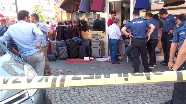 Samsun Tekkeköy ilçesindeki kavgaya müdahale eden polisler olay yerini şeritlerle çevirdi.