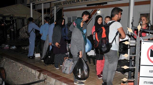 خفر السواحل التركي يضبط 46 مهاجرًا غير نظامي