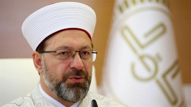 رئيس الشؤون الدينية التركي يهنئ المسلمين بحلول عيد الأضحى