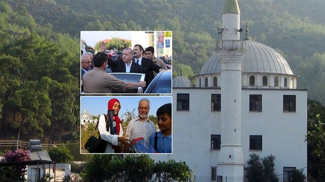 Erdoğan bayram namazını Muğla'da kıldı