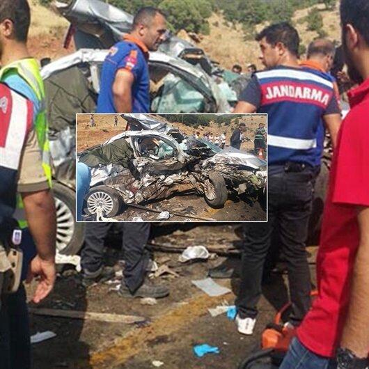 Hurdaya dönen araç 6 kişiye mezar oldu