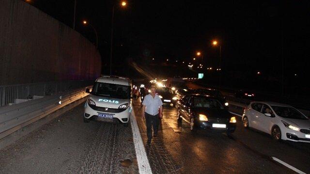 Alkollü sürücünün sebep olduğu kaza TEM'i kilitledi