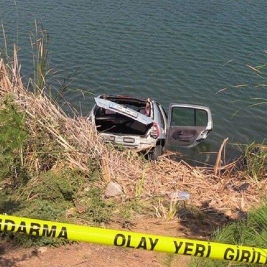 Uşak'ta gölete uçan otomobilde 4 kişi boğularak öldü