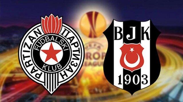 Partizan-Beşiktaş maçı saat 21.30'da başlayacak.