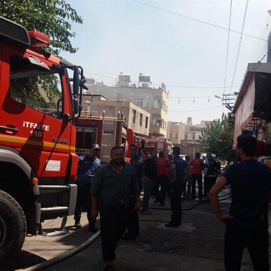 Kilis'te yangın: İçeride mahsur kalanlar var