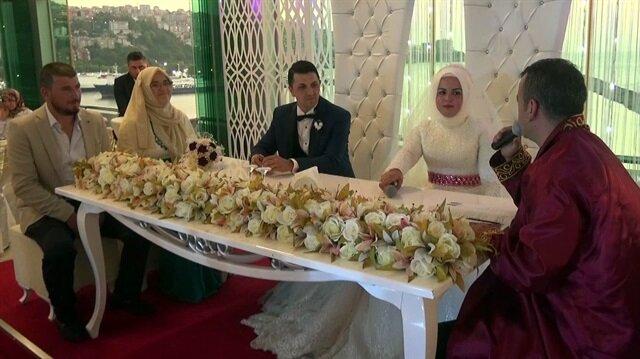 Zonguldak'taki düğünde damada  şaka yapmak isteyen gelin, yapmak istediği şakaya kendisi maruz kaldı.